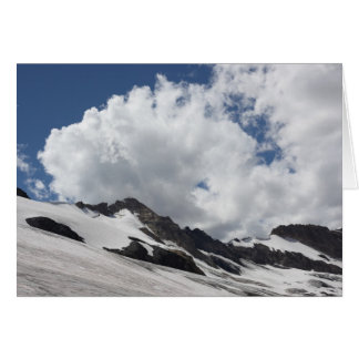 Glacier with Clouds Greeting Card
