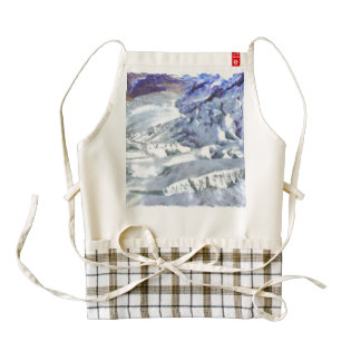 Glacier with cracks in Switzerland Zazzle HEART Apron
