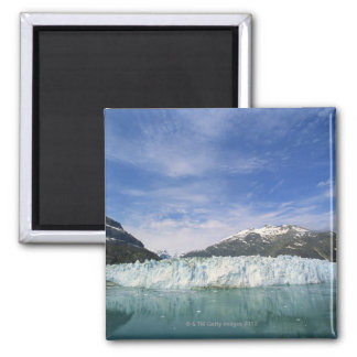 Glaciers and mountain 2 inch square magnet