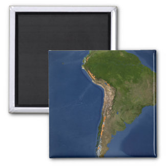 Glaciers in regions of South America Magnet