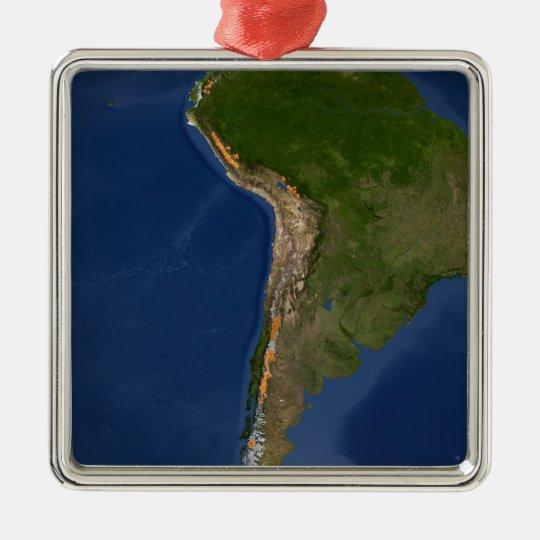 Glaciers in regions of South America Metal Ornament