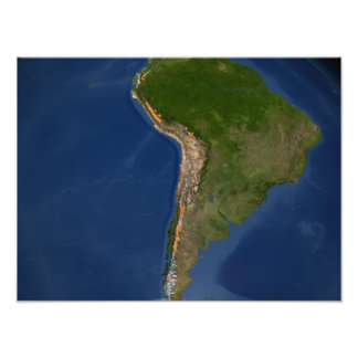 Glaciers in regions of South America Photo Print