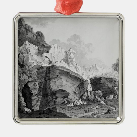 Glaciers of Grindelwald Metal Ornament