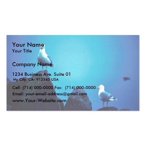 Glacous se fue volando gaviotas plantillas de tarjetas de visita
