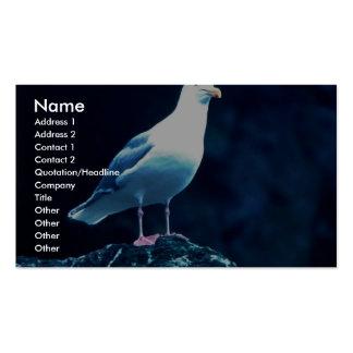 Glacous se fue volando la gaviota tarjetas de visita