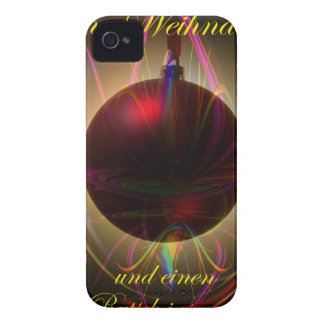 Glad Christmas a good slide in the new year iPhone 4 Case