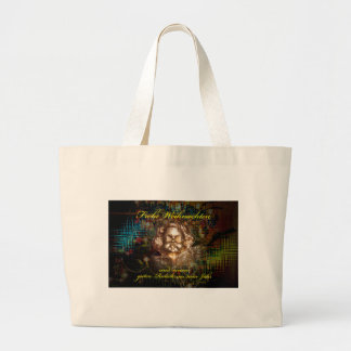 Glad Christmas a good slide in the new year Large Tote Bag