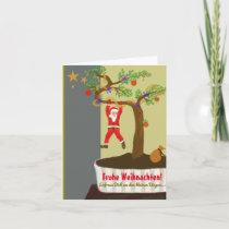 Glad Christmas! Bonsai Santa Claus Holiday Card