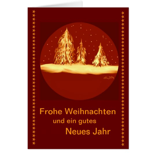 Glad Christmas - fir your text Card