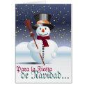 Glad Christmas Greeting Card