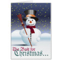 Glad Christmas Greeting Card