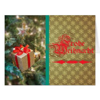 Glad Christmas - greeting map large Greeting Card