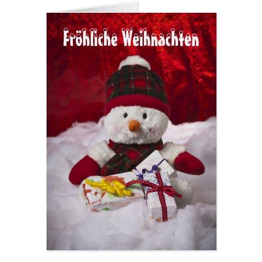 Glad Christmas muñeco de nieve Tarjeta De Felicitación