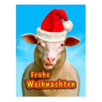 Glad Christmas Postcard