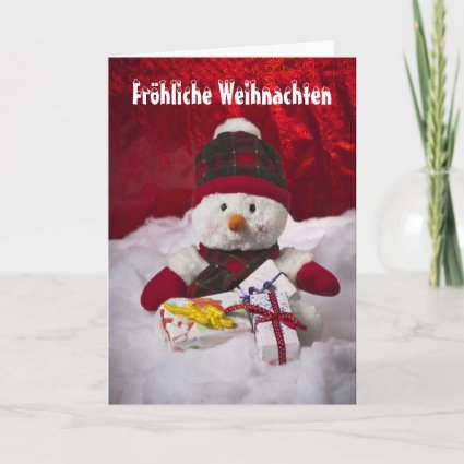 Glad Christmas Schneemann Cards
