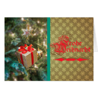 Glad Christmas - small report map Greeting Card