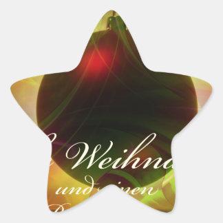 Glad Christmas Star Sticker