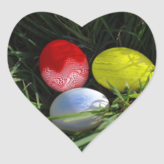 Glad Easter Heart Sticker