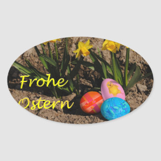 Glad Easter Oval Sticker