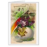 Glad Easter Tidings! Victorian Easter Card Greeting Card