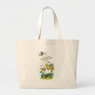 Glad Easter Wishes Jumbo Tote Bag