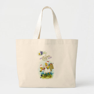 Glad Easter Wishes Large Tote Bag