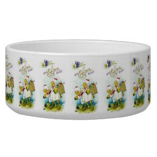 Glad Easter Wishes Dog Bowls