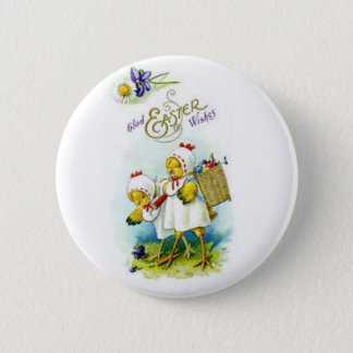 Glad Easter Wishes Pinback Button
