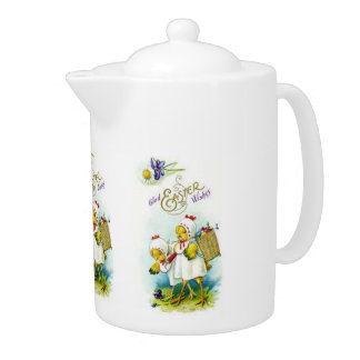 Glad Easter Wishes Teapot