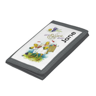 Glad Easter Wishes Trifold Wallets