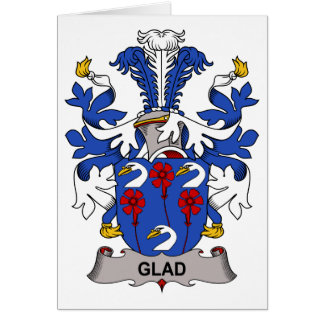 Glad Family Crest Greeting Card