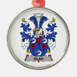 Glad Family Crest Christmas Tree Ornaments