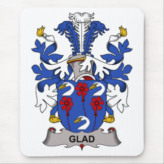 Glad Family Crest Mouse Pad