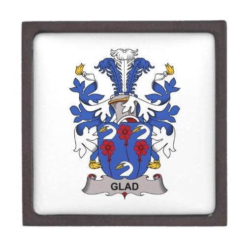Glad Family Crest Premium Trinket Box