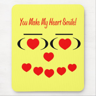 Glad Heart Mouse Pad