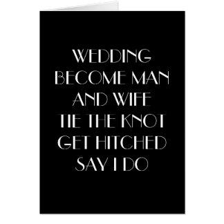"GLAD I MARRIED ""YOU"" CARD"