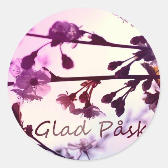 Glad Påsk Classic Round Sticker