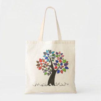 Glad stock market, tree with leaves of colors tote bag
