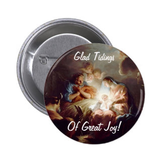 Glad Tidings of Great Joy Custom Round Button