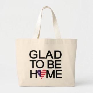 glad_to_be_home.US Bolsa Lienzo