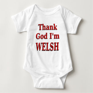glad to be welsh baby tees