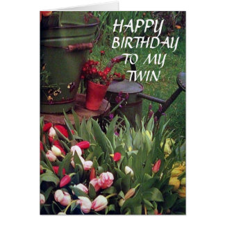 GLAD WE SHARE BIRTHDAY TO MY TWIN SISTER GREETING CARD