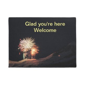 Glad you're here welcome mat