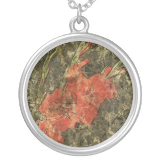 Gladdies - Mark Patrick Digital Art Round Pendant Necklace