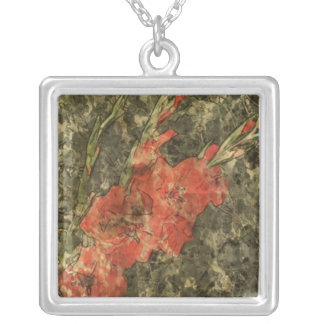 Gladdies - Mark Patrick Digital Art Square Pendant Necklace