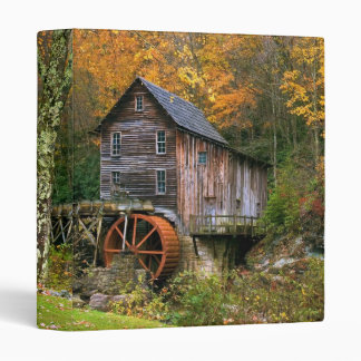 Glade Creek Grist Mill 3 Ring Binder