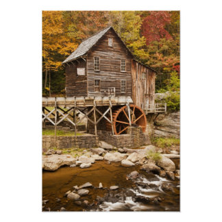 Glade Creek Grist Mill, Babcock State Park, 2 Poster