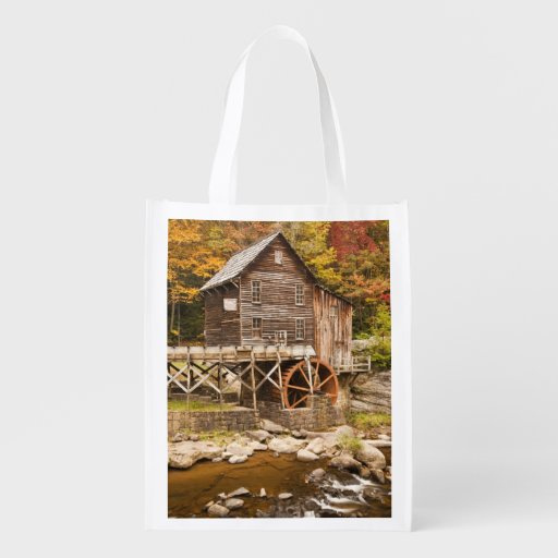 Glade Creek Grist Mill, Babcock State Park, 2 Grocery Bags