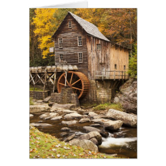 Glade Creek Grist Mill, Babcock State Park, Greeting Card