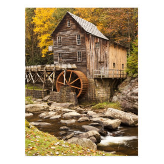Glade Creek Grist Mill, Babcock State Park, Postcard